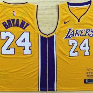 Los Angeles Lakers 24# Kobe Bryant jersey yellow